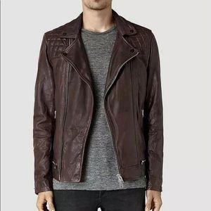 All Saints Men's Conroy Leather Jacket XS
